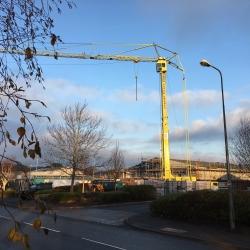 Huge crane at work in Bangor
