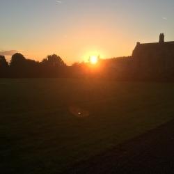 Autumnal sunrise over Mostyn Hall