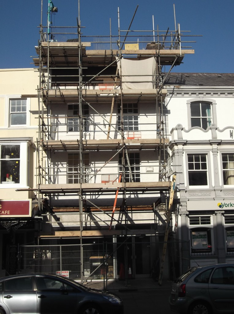 105 Mostyn Street with scaffold