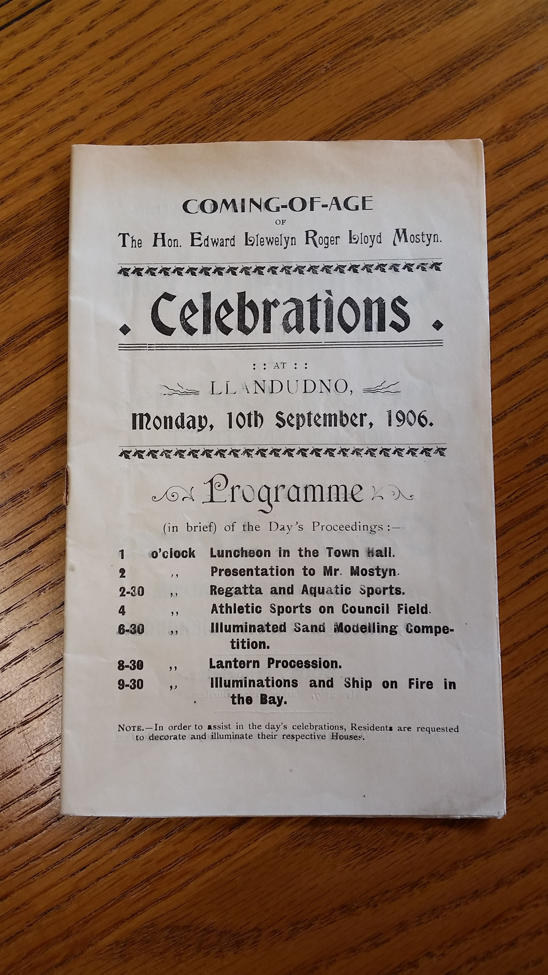 Happy 21st Birthday 111 Years Ago Today Mostyn Estates