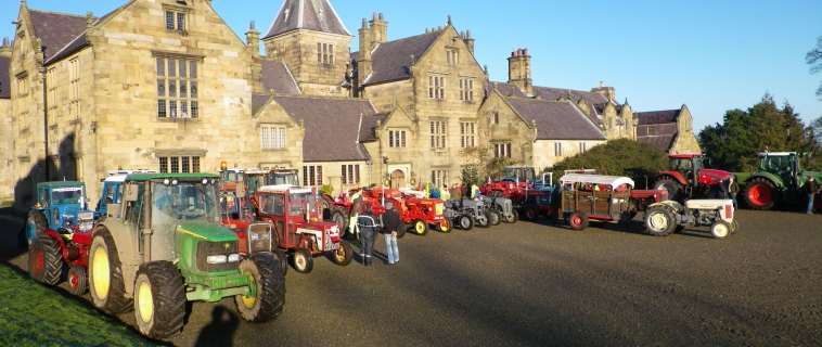 Tractors Gather at Mostyn Hall