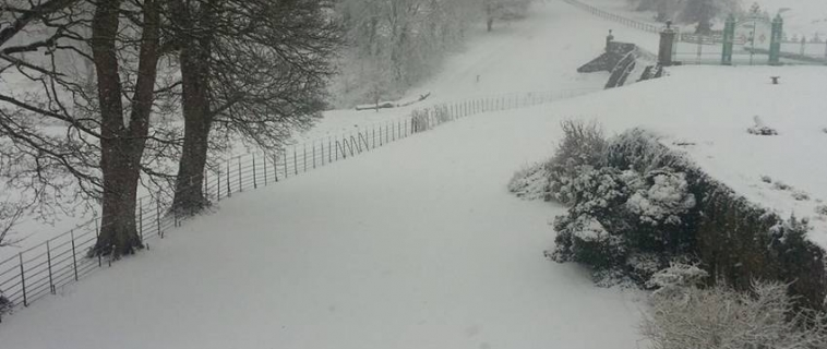 Snow at Mostyn